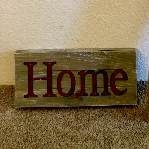 NWT Wooden Home sign